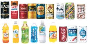 自販機納入商品の例