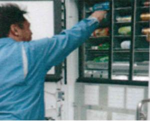 自動販売機のメンテナンス