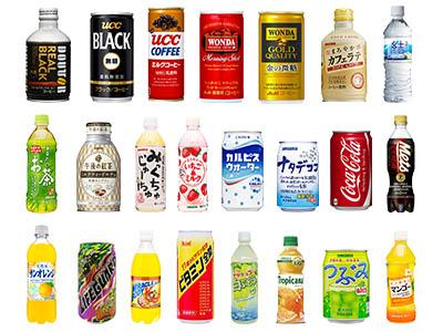 自動販売機に投入する商品ラインナップを選べます