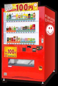 福岡ドリンクの100円自動販売機